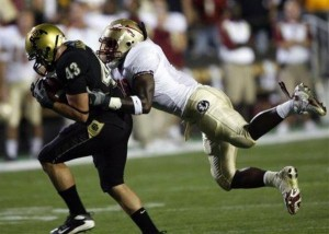 Samson makes a nice grab as University of Colorado loses a close one to Florida State