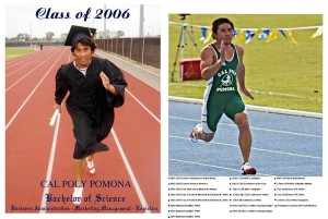 Vince graduated with honors after setting many records at Cal Poly Pomona